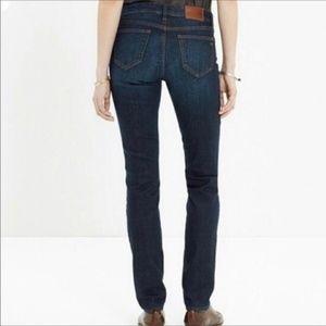 Madewell Alley Straight Dark Denim Jeans